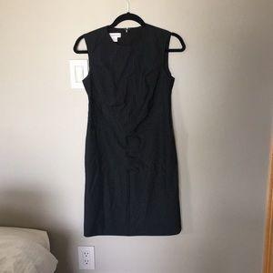 Calvin Klein Black Pinstripe Dress